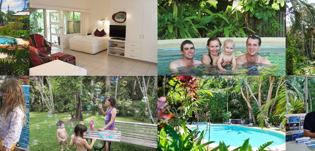 Villa Marine Cairns family apartment collage